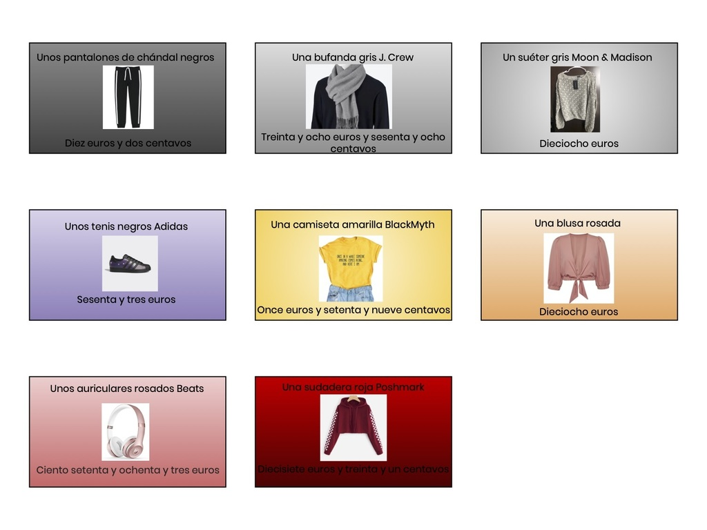 La Ropa - 6th Grade Slides Project